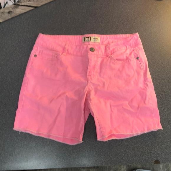 lei Pants - L.E.I. Neon Pink Jean Shorts